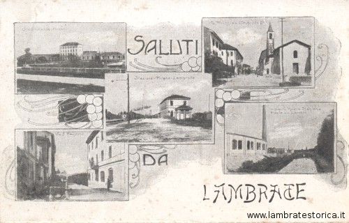 Cartolina saluti da Lambrate
