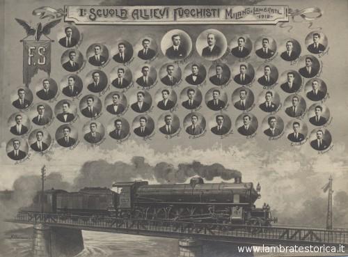 Prima scuola allievi fuochisti Milano Lambrate 1919