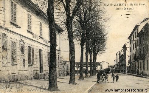 Milano-Lambrate. Via Vittorio Emanuele. Scuole Comunali